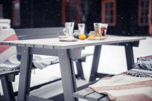 Dārza mēbeles ziemā
