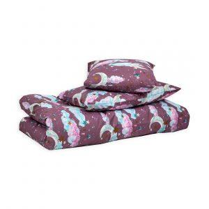 Комплект детского постельного белья из хлопка с двусторонним рисунком
